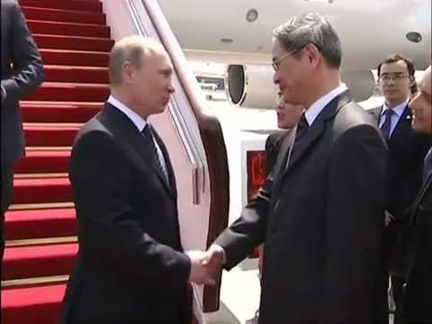 President Vladimir Putin is beginning a three-day visit to China, with energy and foreign policy expected to dominate the agenda