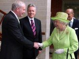 Queen Elizabeth II and former IRA commander Martin McGuinness shook hands for the first time