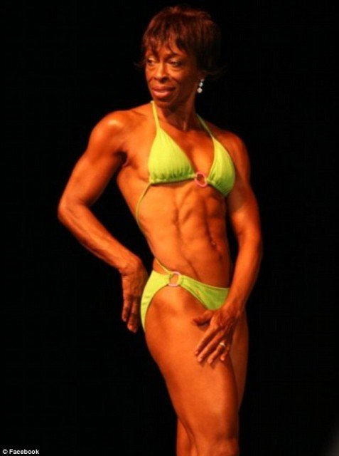 "Ruby Carter Pikes also known as ""Miss Ruby"" is a great grandmother with a six pack that even a college athlete would be jealous of and a cabinet of bikini competition trophies to prove it 477x640 photo"