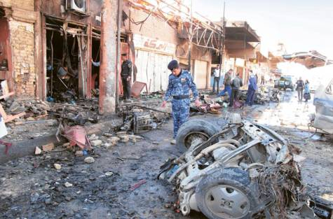 Serial bomb attacks in six Iraqi provinces, including 10 locations in Baghdad, has killed 62 people and wounded dozens more