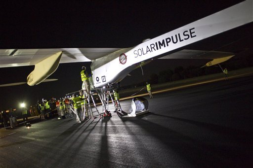 Solar Impulse, a solar-powered plane, has landed in Rabat, Morocco, after flying from Spain, completing the second leg of its pioneering journey