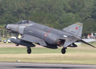 "The Syrian military has confirmed that it shot down Turkish warplane F-4 Phantom ""flying in airspace over Syrian waters"