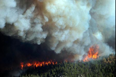 Two of the biggest ever wildfires in the US have hit states of Colorado and New Mexico and hundreds of firefighters have joined efforts to tackle them photo