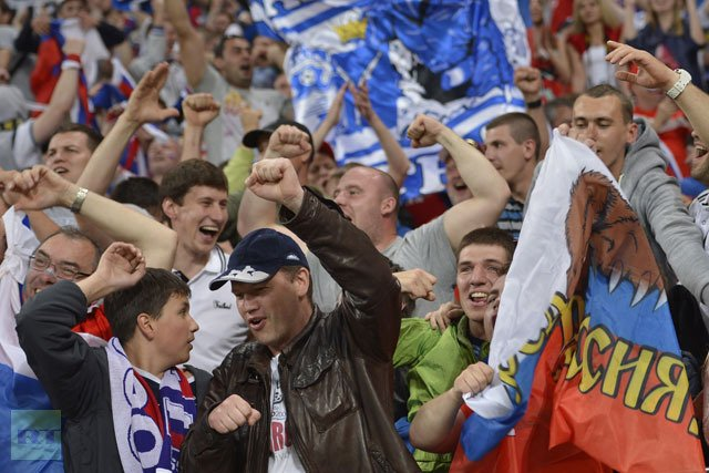 "UEFA has initiated disciplinary proceedings against the Football Union of Russia for ""improper conduct of supporters"" during Friday's Euro 2012 game against the Czech Republic in Wroclaw"