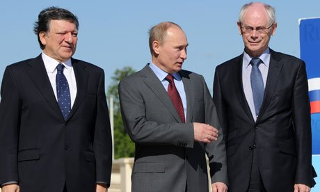 Vladimir Putin will hold talks with Jose Manuel Barroso and Herman Van Rompuy