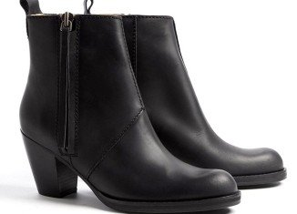 Acne Pistol boots, which come in a variety of colors, have been photographed on the feet of many, their trademark zipper attached with leather tassel seen swinging with each starlet's every step
