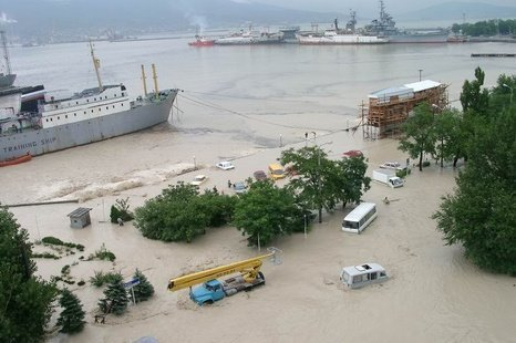 At least 99 people have been killed after flash floods caused by torrential rain swept the southern Krasnodar region