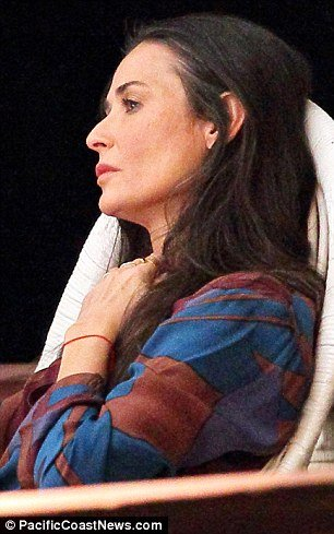 Demi Moore was spotted showing the strain of the family drama on the set of her new movie Very Good Girls in Brooklyn