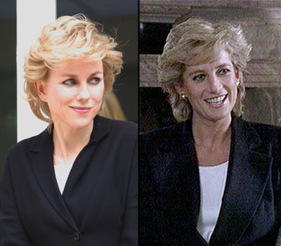 Film company Ecosse has released the first image of Naomi Watts playing Diana, Princess of Wales