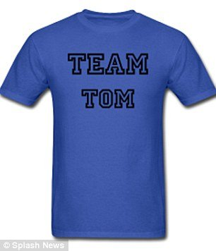 Following the news of Katie Holmes and Tom Cruise split, Team Tom T-shirts are already up for sale