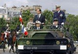 French President Francois Hollande celebrated his first-ever National Day