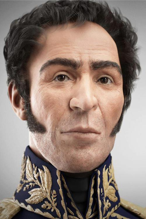 Hugo Chavez has unveiled a 3-D reconstruction of the face of Simon Bolivar
