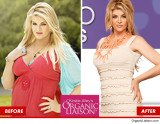 In Kirstie Alley's advert for QVC's Organic Liaison, the actress is shown before and after her extreme weight loss