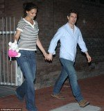 In the last pictures of Katie Holmes and Tom Cruise, taken in April, they are seen holding hands but the strain of the relationship is plain for all to see