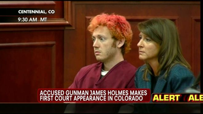 James Holmes, the man accused of killing 12 people in a shooting at Batman film screening in Aurora, has appeared in court for the first time