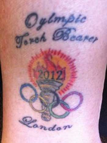 Jerri Peterson was shocked to discover that her Olympic tattoo had been spelt incorrectly