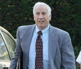 Jerry Sandusky allegedly called the boy he was seen raping in a locker room shower and left him two sickening voicemail messages professing his love