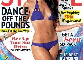 Jordin Sparks has shown off her new slimline figure on the cover of Shape magazine
