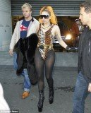 Lady Gaga stepped out in a tiger-print leotard to celebrate the Fourth of July in Melbourne during her Australian tour