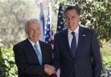 Mitt Romney held talks with Israeli President Shimon Peres