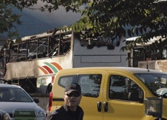 More than 30 people were also injured when the bus exploded at Burgas airport