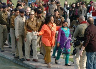 Oprah Winfrey has been criticized after the broadcast of a two-part TV special about her trip to India in January