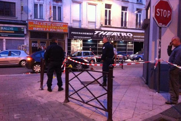 Police in Lille France are hunting a gunman who shot dead two people and injured five at Theatro nightclub after being turned away photo