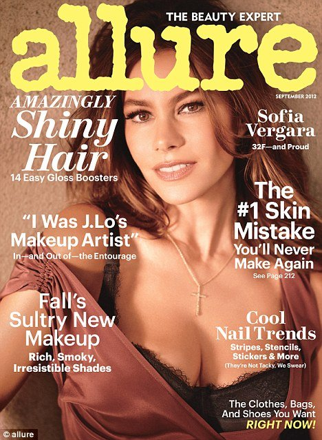 Sofia Vergara's breast takes centre stage on the new cover of Allure magazine