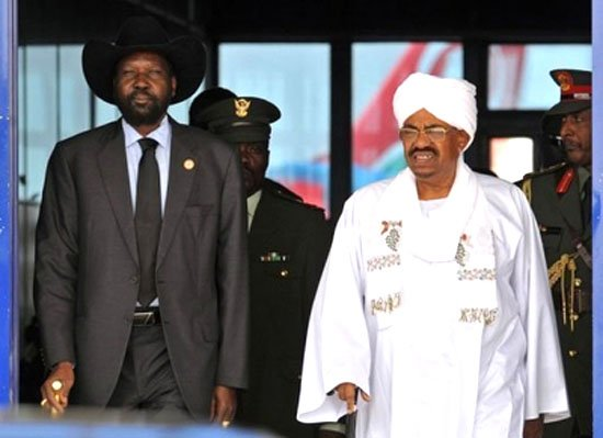 Sudan's President Omar al Bashir and South Sudan's President Salva Kiir meet for the first time since border dispute1 photo