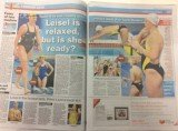 Swimmer Leisel Jones's physique was today targeted in the Melbourne Herald Sun, which suggested she may be out of shape as she prepares for her fourth Olympics