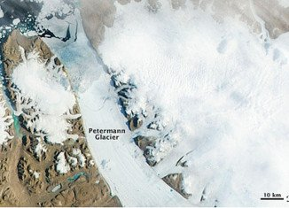 The Petermann Glacier in northern Greenland has calved an iceberg twice the size of Manhattan