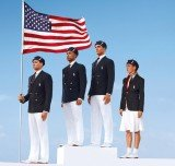 The classic US Olympic uniform may have a distinctly American look, but the label inside reads Made in China