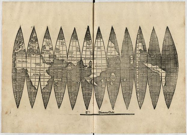 The map, by the famous cartographer Martin Waldseemuller, is credited with being the first to document and name the newly-discovered land of America