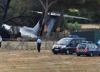 Three people have been killed in the south of France after an American private jet crashed on landing