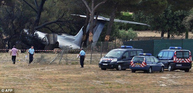 Three people have been killed in the south of France after an American private jet crashed on landing photo