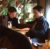 Tom Cruise and Katie Holmes were spotted having dinner at a sushi restaurant in Reykjavik, Iceland