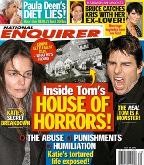Tom Cruises lawyer has threatened the National Enquirer with a multimillion dollar lawsuit over a new issue asserting it has details of the actors recent split with Katie Holmes photo