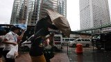 Typhoon Vicente hit late on Monday, bringing winds of more than 140 km/h (87 mph) and heavy downpours
