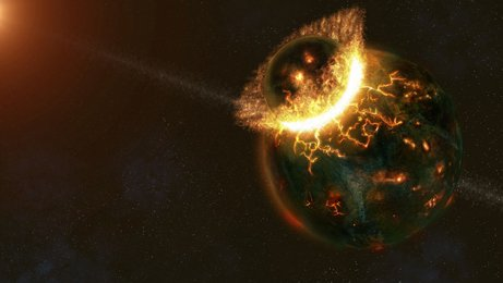 What is certain is that some sort of impact from another body freed material from the young Earth and the resulting debris coalesced into today's Moon