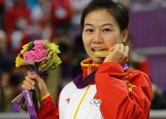 Yi Siling won first gold medal of the London 2012 Olympics in the women's 10 m air rifle