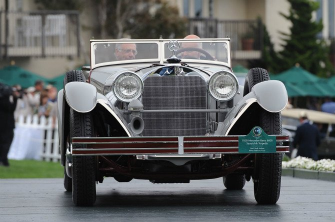 1928 Mercedes-Benz 680S Saoutchik Torpedo, entered by Paul and Judy Andrews of White Settlement, Texas, won Best Of Show at Pebble Beach Concours d'Elegance 2012..
