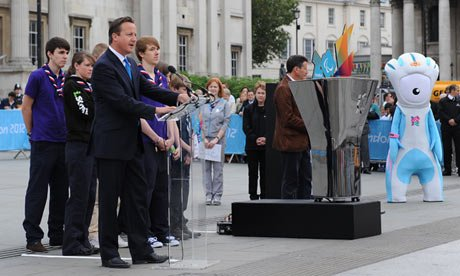 A ceremonial cauldron has been lit in Londons Trafalgar Square to launch the Paralympic torch relay photo