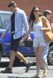 A fresh-faced Demi Moore joined a younger man for a day out in Santa Monica yesterday