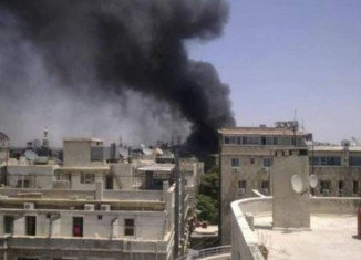 A large explosion has rocked Syrian capital Damascus striking close to a military compound, near a hotel used by the UN's observer mission