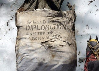 An Indian diplomatic bag has been found on Mont Blanc in the French Alps, close to where an Air India plane crashed 46 years ago