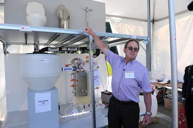 At the Reinvent the Toilet fair, hosted at its Seattle campus this week, designs included a lavatory that used microwave energy to turn poo into electricity