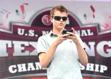 Austin Weirschke, 17, beat 10 other competitors at the sixth National Texting Championship held in New York