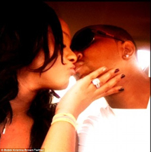 Bobbi Kristina Brown not only kissed and professed her love for brother-turned-partner Nick Gordon over Twitter last night, she also showed off a mysterious diamond sparkler on her left ring finger