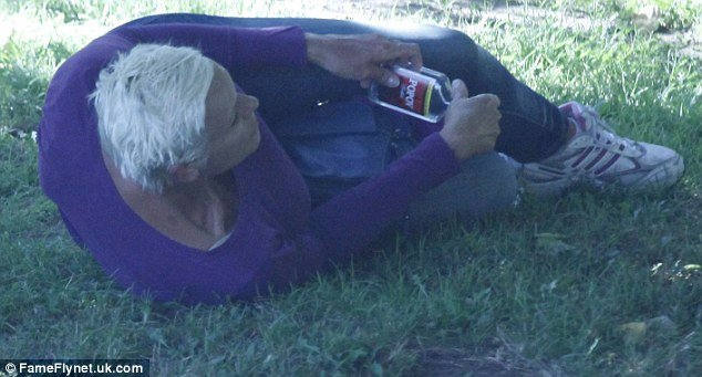 Brigitte Nielsen's continuing personal disintegration was starkly illustrated this week in pictures of her drunk and confused in broad daylight in a Los Angeles park