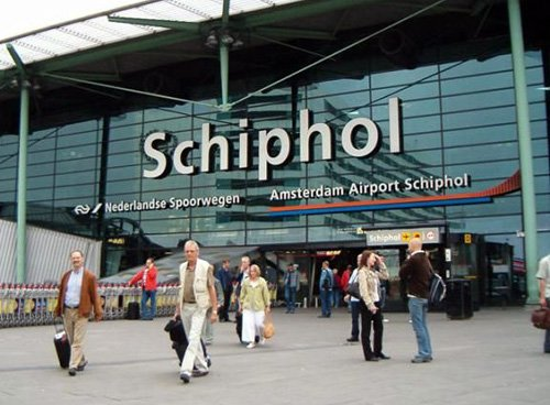Certain areas of Amsterdam's Schiphol airport have been closed after a suspected World War II bomb was discovered